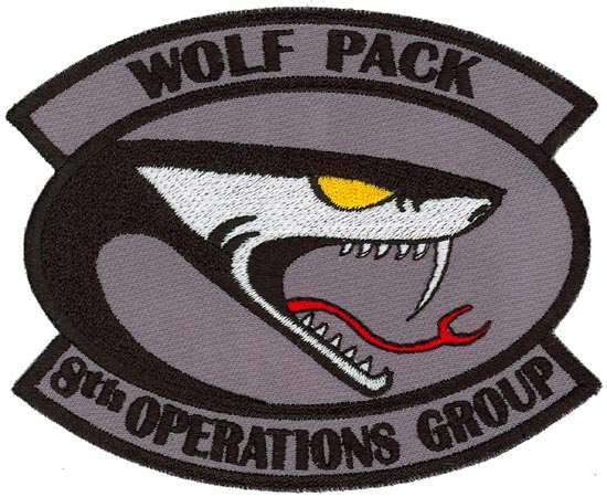 8th operations group – wolf pack – large flightline insignia