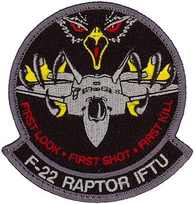 325th Operations Support Squadron F 22 Intelligence Formal Training Unit Flightline Insignia