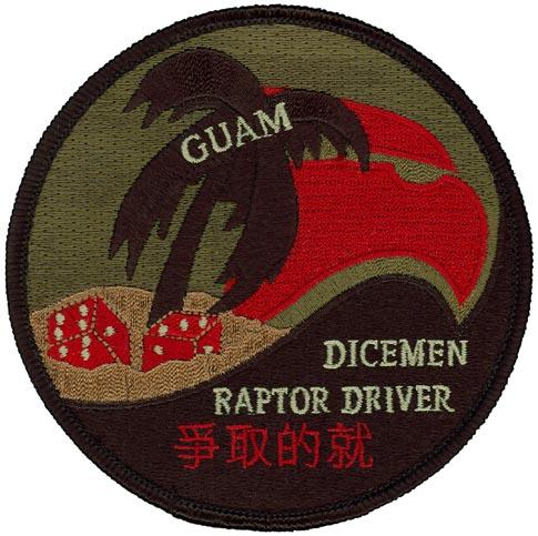 90 FS Dicemen Patch 90th Fighter Squadron