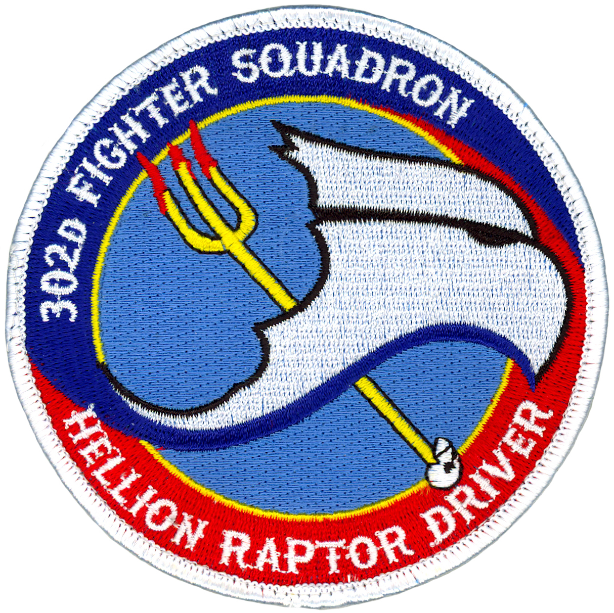 302nd FIGHTER SQUADRON - HELLION RAPTOR DRIVER - NEW