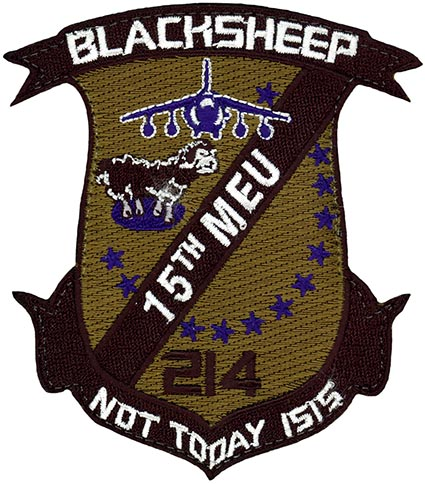 VMA-214 USMC FIGHTER SQUADRON BLACKSHEEP MILITARY PATCH MARINE CORPS